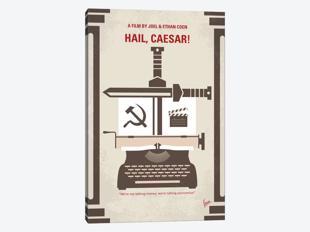 Hail, Caesar! Minimal Movie Poster by Chungkong 1-piece Canvas Art Print