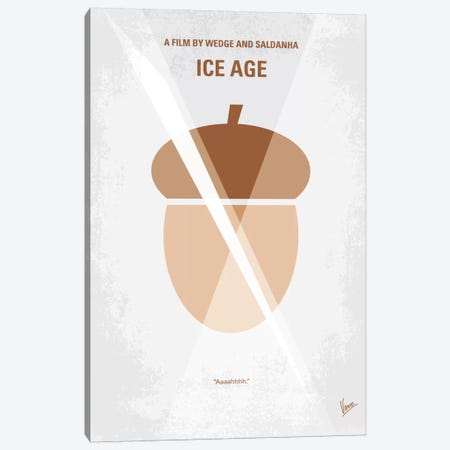 Ice Age Minimal Movie Poster Canvas Print #CKG55} by Chungkong Canvas Art Print