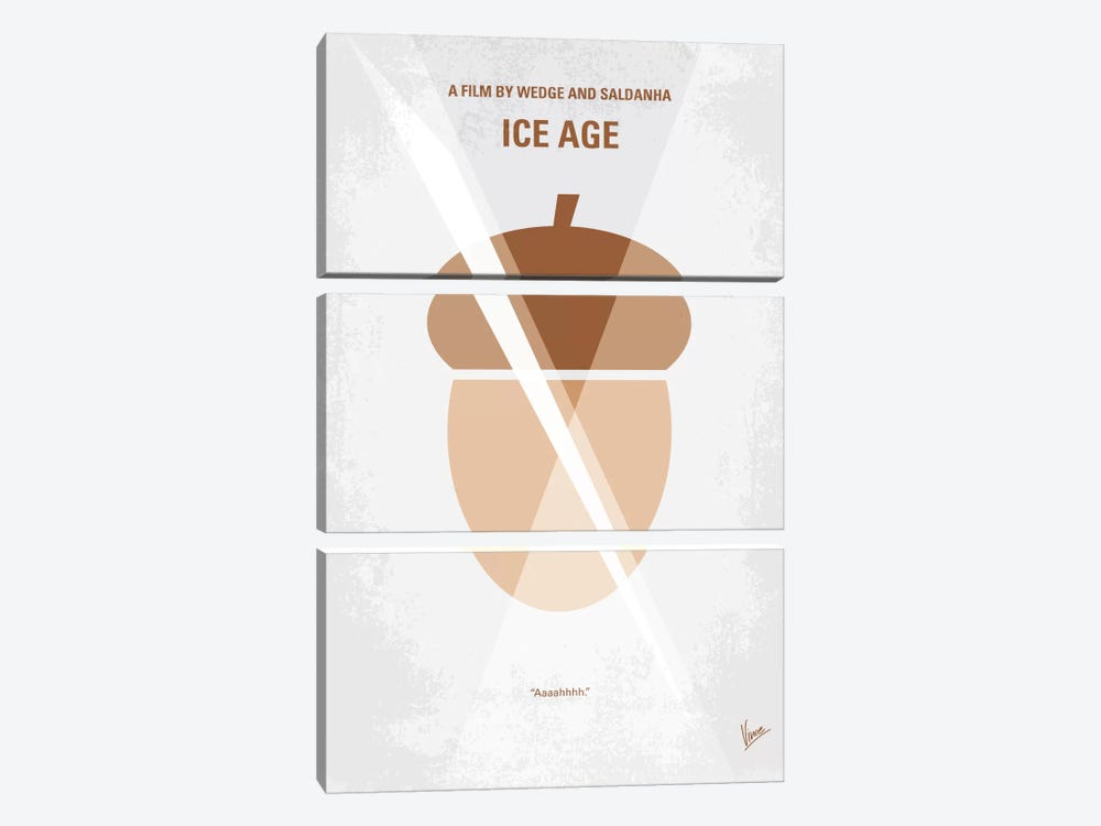 Ice Age Minimal Movie Poster by Chungkong 3-piece Canvas Art Print