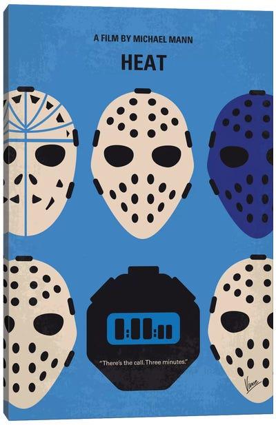 Heat Minimal Movie Poster Canvas Art Print