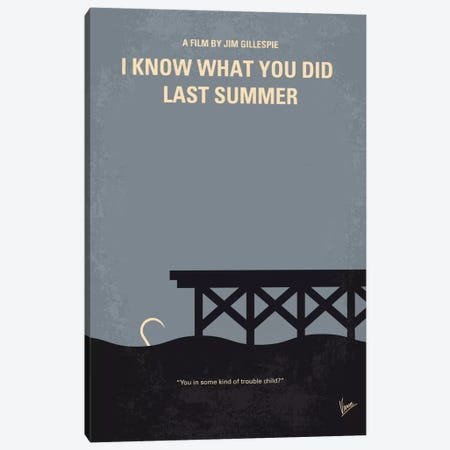 I Know What You Did Last Summer Minimal Movie Poster Canvas Print #CKG563} by Chungkong Canvas Artwork