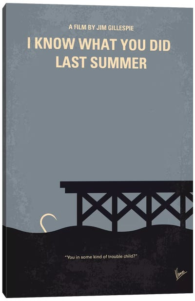 I Know What You Did Last Summer Minimal Movie Poster Canvas Print #CKG563