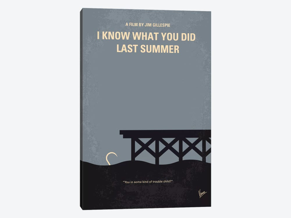 I Know What You Did Last Summer Minimal Movie Poster by Chungkong 1-piece Canvas Wall Art