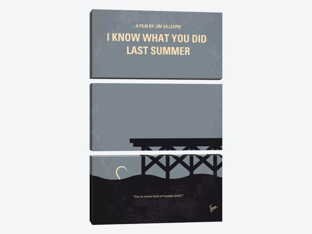 I Know What You Did Last Summer Minimal Movie Poster by Chungkong 3-piece Canvas Artwork