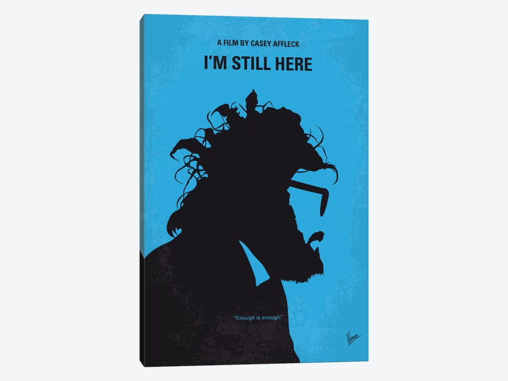 I'm Still Here Minimal Movie Poster by Chungkong 1-piece Canvas Print