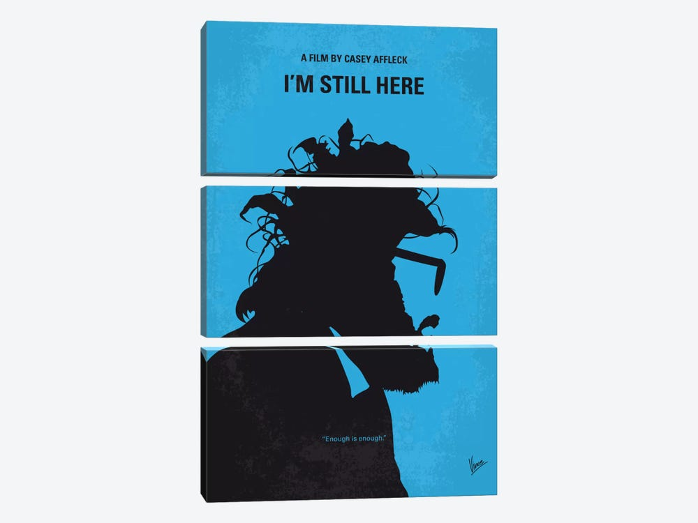 I'm Still Here Minimal Movie Poster by Chungkong 3-piece Art Print