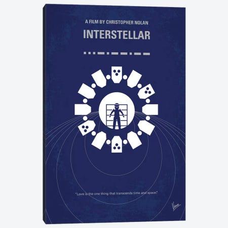 Interstellar Minimal Movie Poster Canvas Print #CKG567} by Chungkong Canvas Print