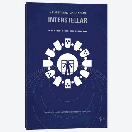 Interstellar Minimal Movie Poster Canvas Print #CKG567} by Chungkong Canvas Print