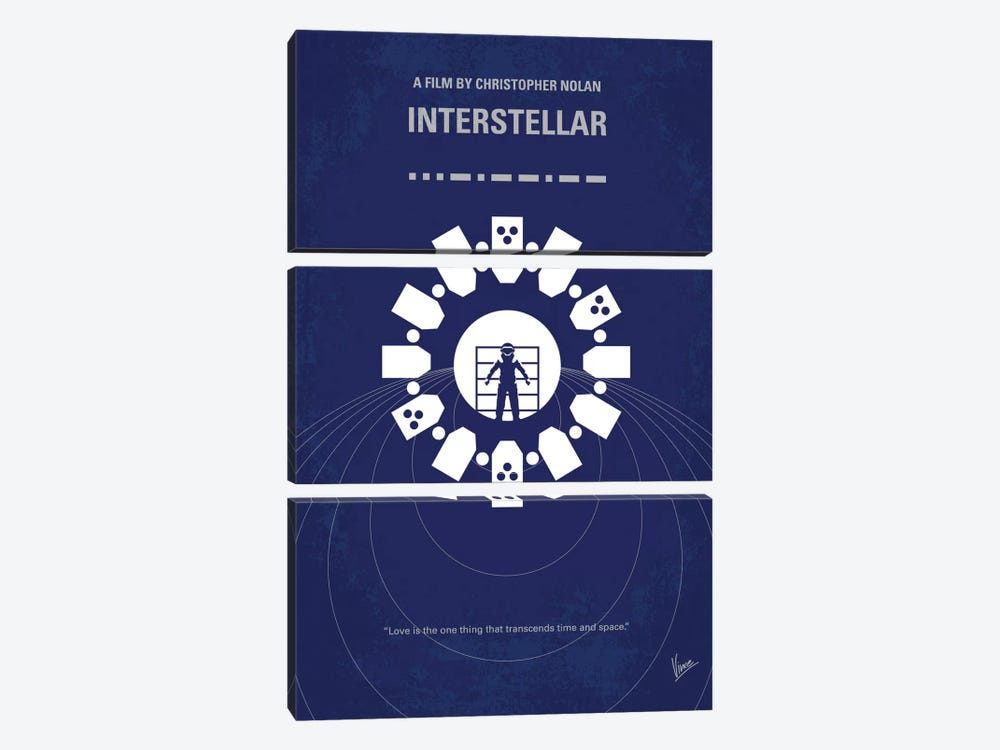Interstellar Minimal Movie Poster by Chungkong 3-piece Canvas Artwork