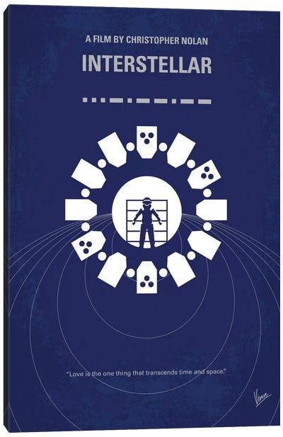 Interstellar Minimal Movie Poster Canvas Art Print