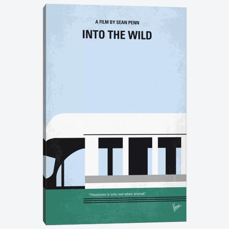 Into The Wild Minimal Movie Poster Canvas Print #CKG568} by Chungkong Canvas Artwork