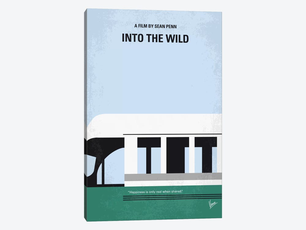 Into The Wild Minimal Movie Poster by Chungkong 1-piece Art Print