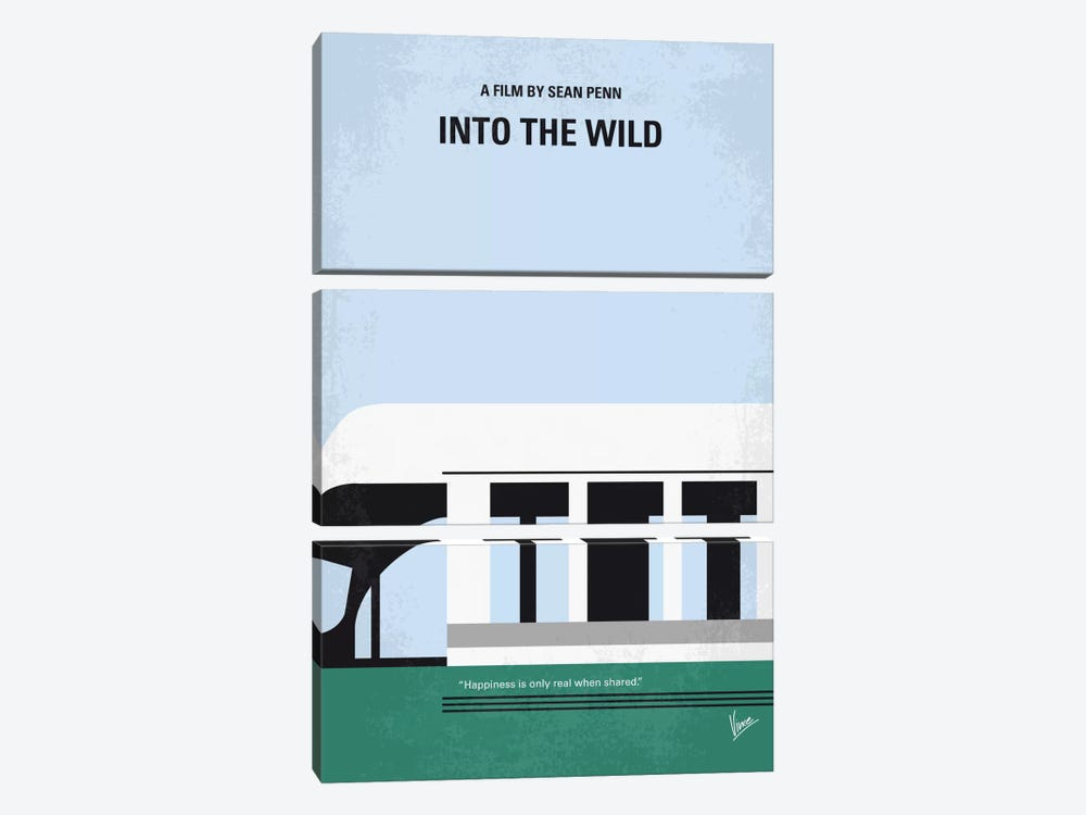 Into The Wild Minimal Movie Poster by Chungkong 3-piece Canvas Art Print
