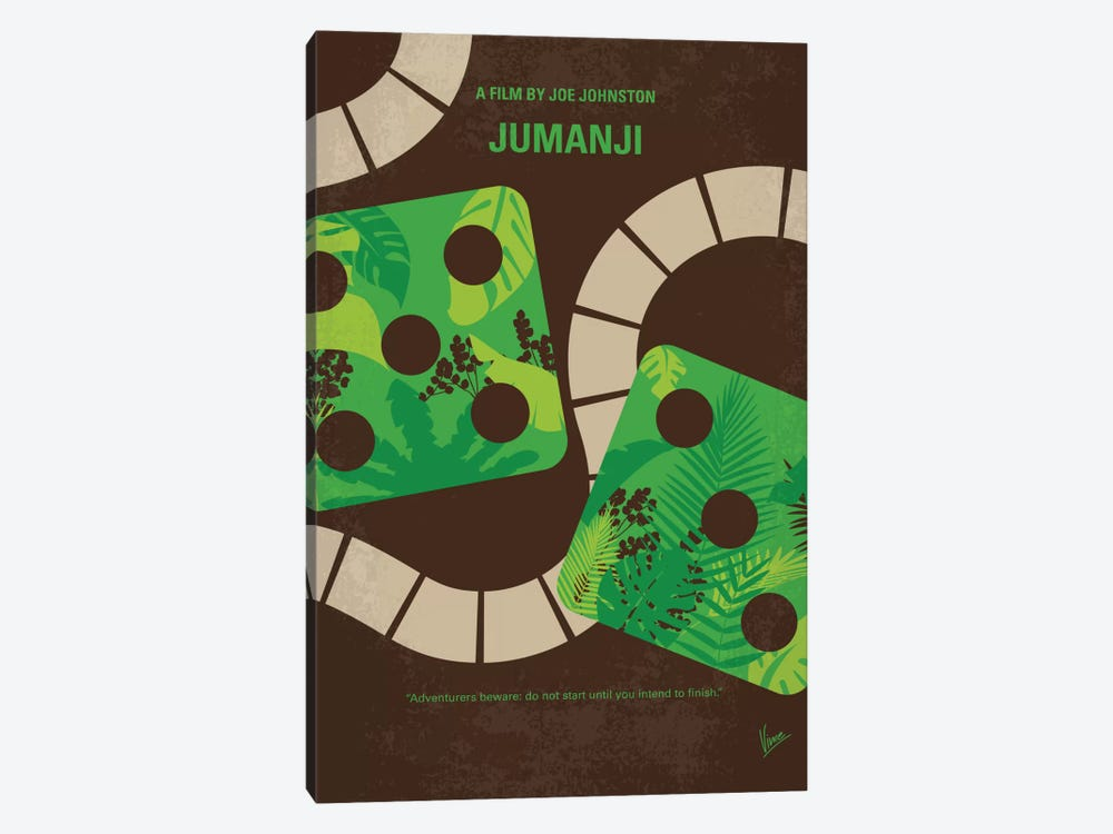 Jumanji Minimal Movie Poster 1-piece Canvas Artwork