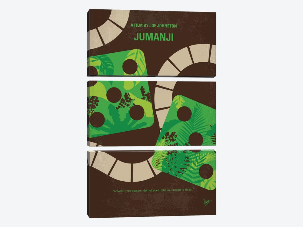 Jumanji Minimal Movie Poster 3-piece Canvas Art