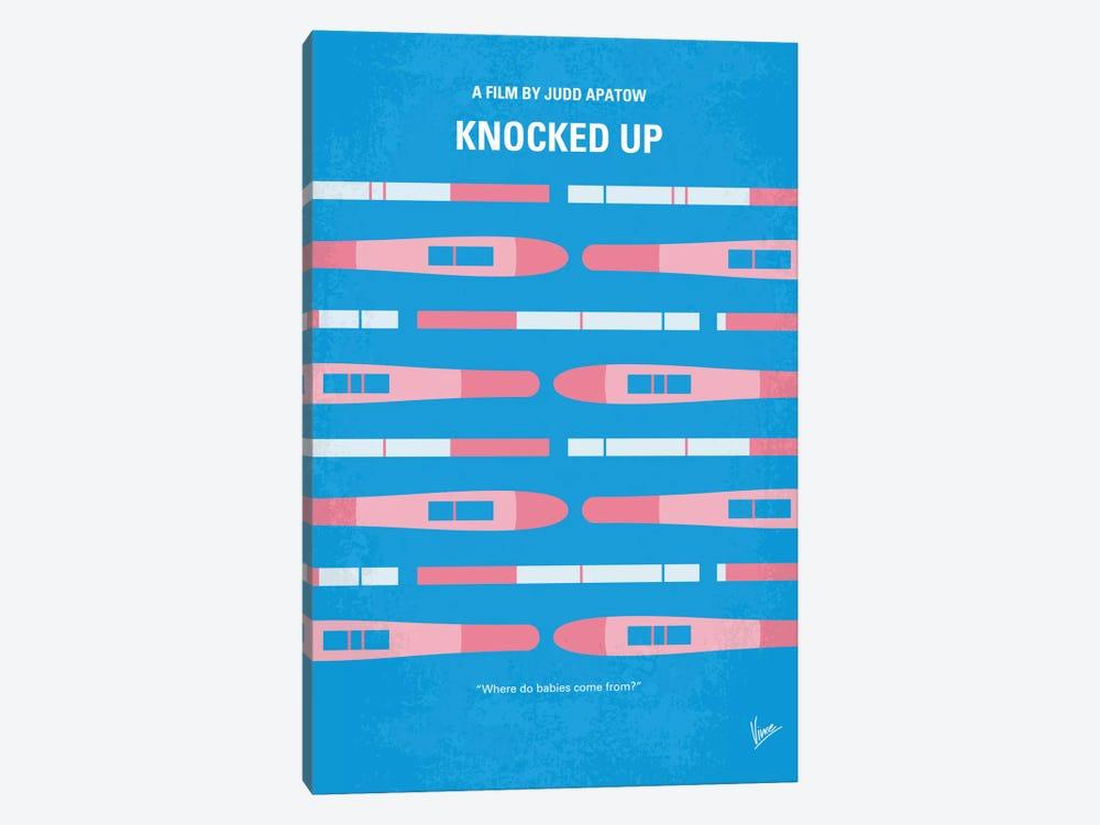 Knocked Up Minimal Movie Poster 1-piece Canvas Print
