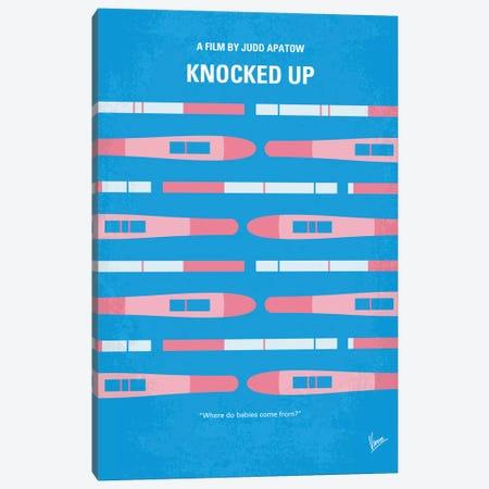 Knocked Up Minimal Movie Poster Canvas Print #CKG571} by Chungkong Canvas Art Print
