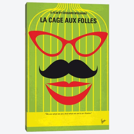 La Cage Aux Folles Minimal Movie Poster Canvas Print #CKG572} by Chungkong Art Print