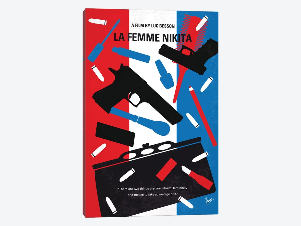 La Femme Nikita Minimal Movie Poster by Chungkong 1-piece Canvas Artwork