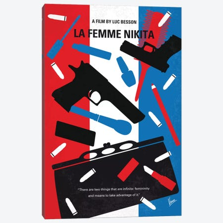 La Femme Nikita Minimal Movie Poster Canvas Print #CKG574} by Chungkong Canvas Art