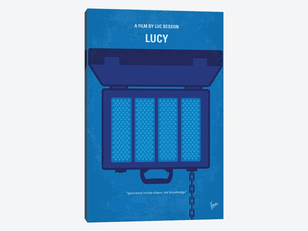 Lucy Minimal Movie Poster by Chungkong 1-piece Canvas Wall Art