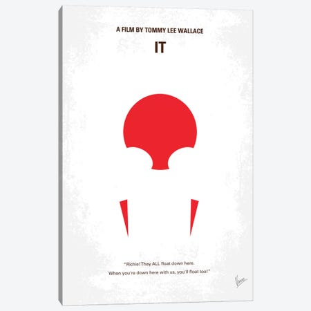 It Minimal Movie Poster Canvas Print #CKG57} by Chungkong Art Print