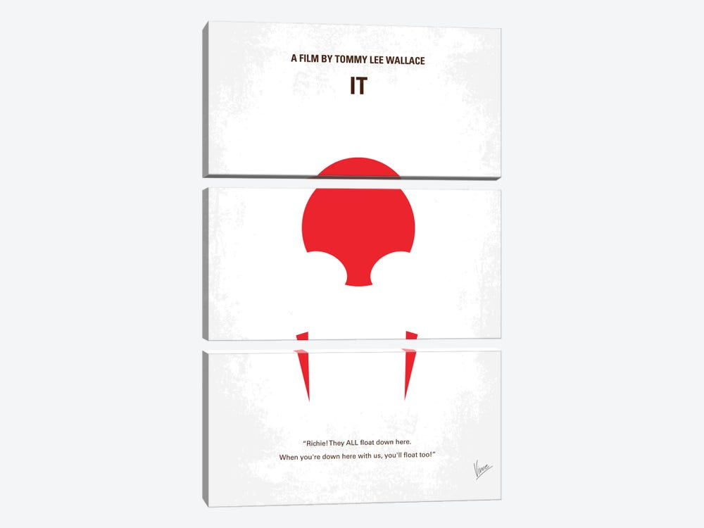 It Minimal Movie Poster by Chungkong 3-piece Art Print