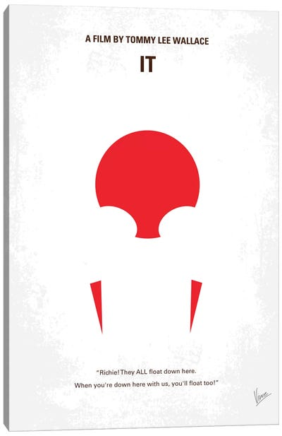 It Minimal Movie Poster Canvas Art Print