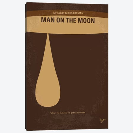 Man On The Moon Minimal Movie Poster Canvas Print #CKG580} by Chungkong Canvas Art