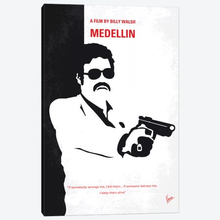 Medellin Minimal Movie Poster Canvas Print #CKG582} by Chungkong Canvas Artwork