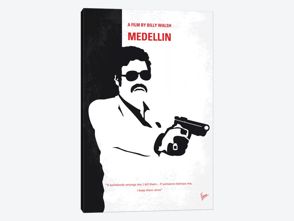 Medellin Minimal Movie Poster by Chungkong 1-piece Art Print