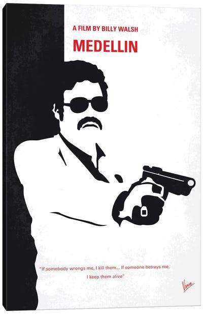 Medellin Minimal Movie Poster Canvas Art Print