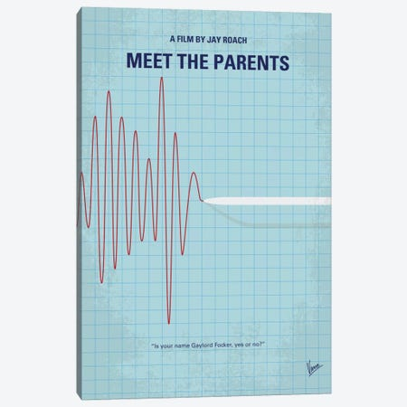 Meet The Parents Minimal Movie Poster Canvas Print #CKG583} by Chungkong Canvas Artwork