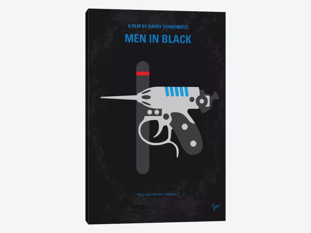 Men In Black Minimal Movie Poster by Chungkong 1-piece Canvas Art Print