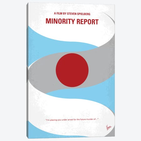 Minority Report Minimal Movie Poster Canvas Print #CKG585} by Chungkong Art Print