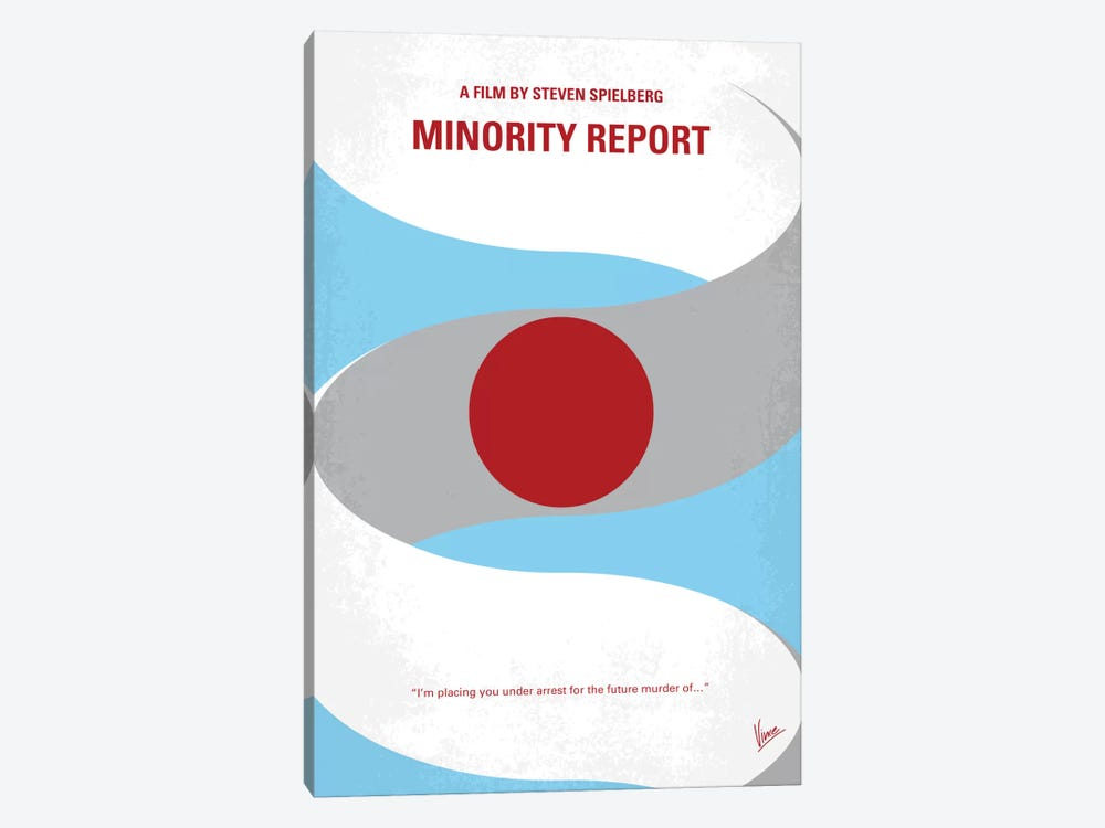 Minority Report Minimal Movie Poster by Chungkong 1-piece Canvas Wall Art