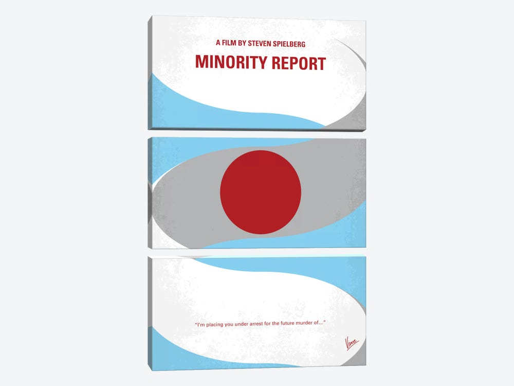 Minority Report Minimal Movie Poster 3-piece Canvas Wall Art