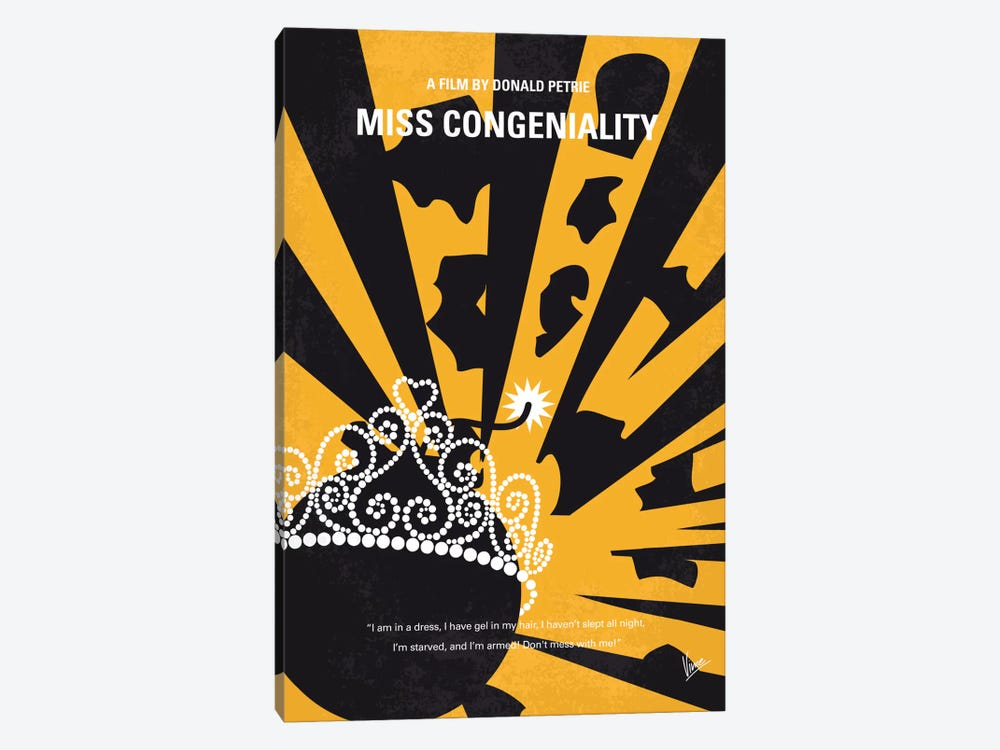 Miss Congeniality Minimal Movie Poster by Chungkong 1-piece Art Print