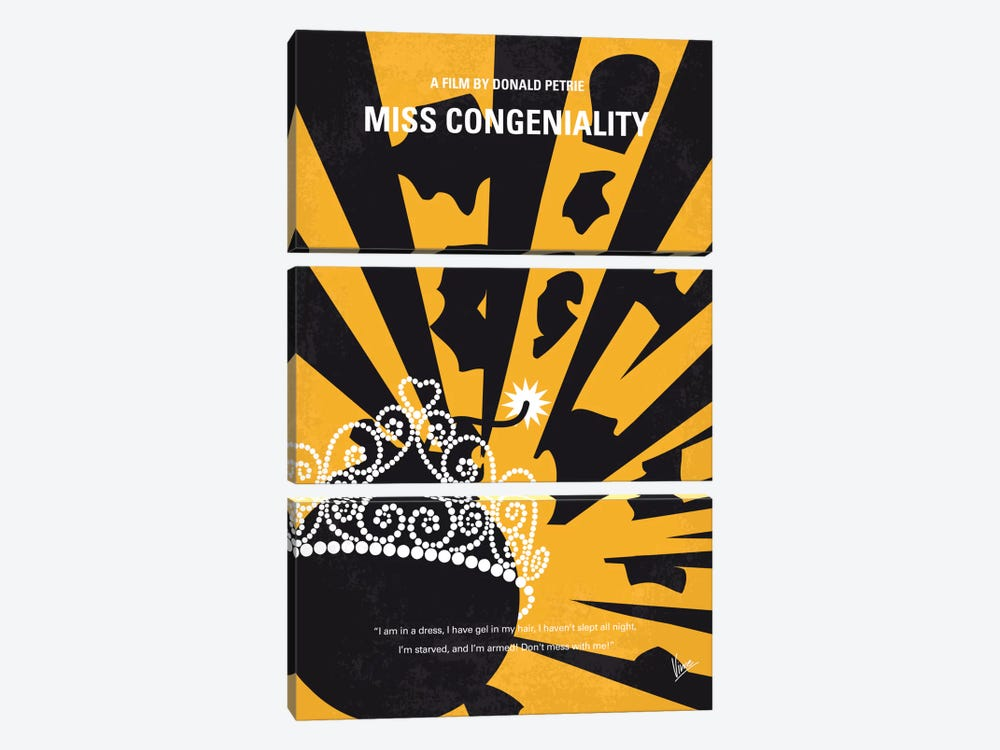Miss Congeniality Minimal Movie Poster by Chungkong 3-piece Art Print