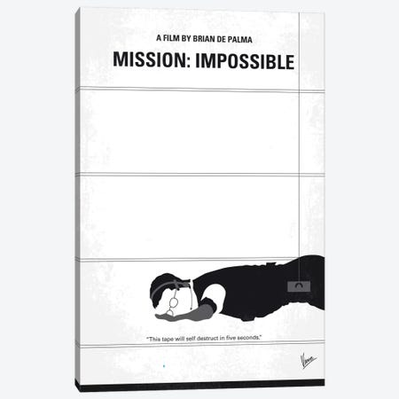 Mission: Impossible Minimal Movie Poster Canvas Print #CKG587} by Chungkong Canvas Print