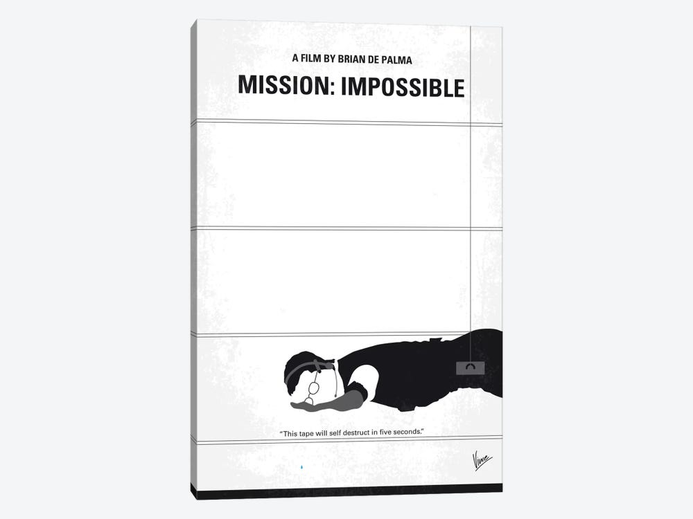 Mission: Impossible Minimal Movie Poster by Chungkong 1-piece Canvas Art