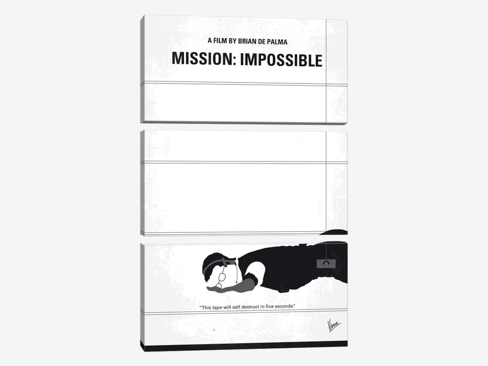 Mission: Impossible Minimal Movie Poster by Chungkong 3-piece Canvas Artwork