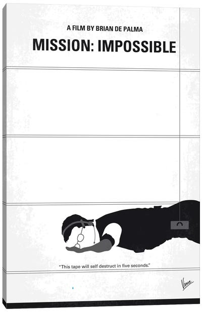 Mission: Impossible Minimal Movie Poster Canvas Art Print