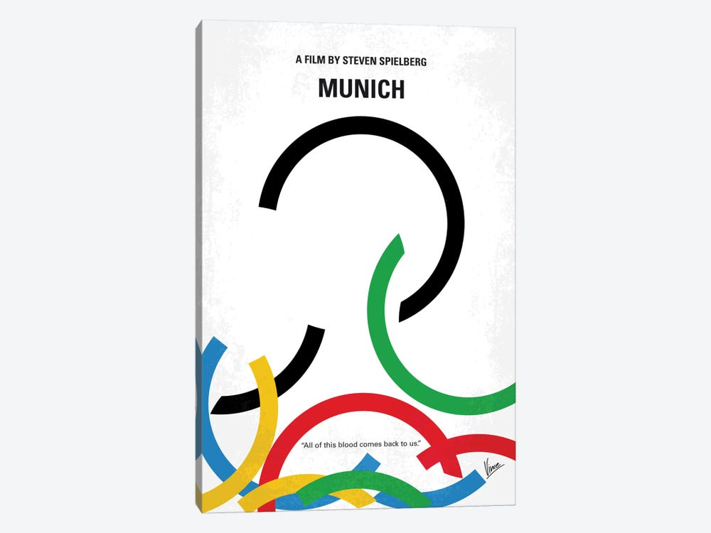 Munich Minimal Movie Poster by Chungkong 1-piece Canvas Print