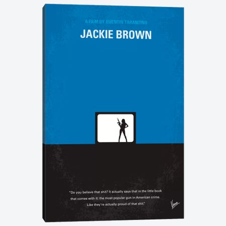 Jackie Brown Minimal Movie Poster Canvas Print #CKG58} by Chungkong Canvas Wall Art