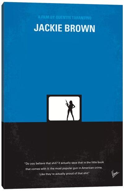 Jackie Brown Minimal Movie Poster Canvas Print #CKG58