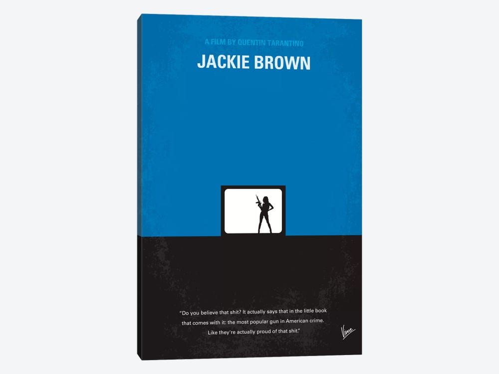Jackie Brown Minimal Movie Poster 1-piece Canvas Artwork