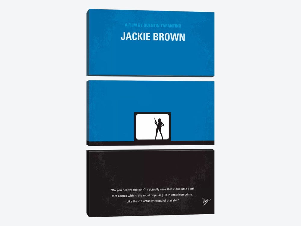 Jackie Brown Minimal Movie Poster by Chungkong 3-piece Canvas Artwork