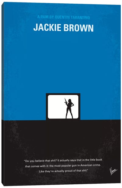 Jackie Brown Minimal Movie Poster Canvas Art Print
