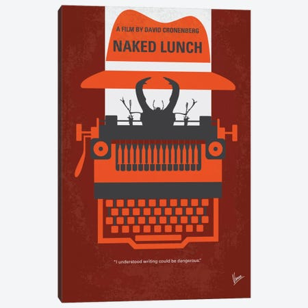 Naked Lunch Minimal Movie Poster Canvas Print #CKG590} by Chungkong Art Print
